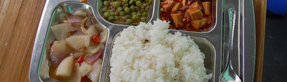 Reis und Gemüse
