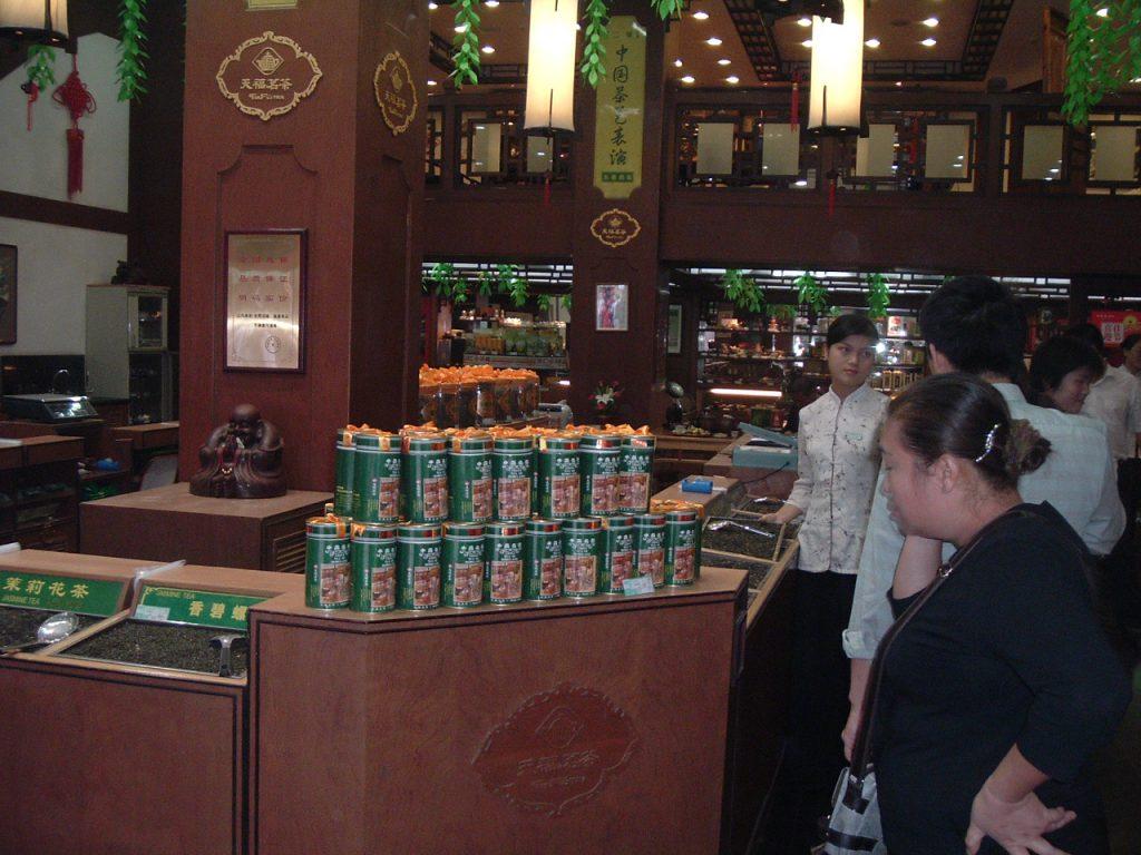 Teegeschäft in Peking