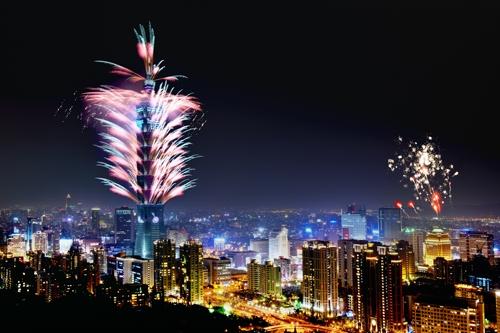 Taiwan Reise zu Silvester - Feuerwerk in Taipeh